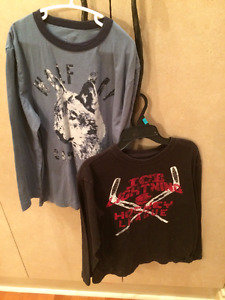 Boy's Long Sleeve Tops sizes 10-14