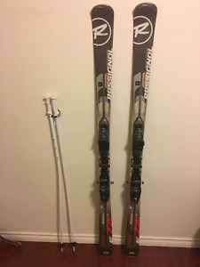 E78 Rossignol 174cm skis with bindings
