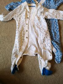 M&S baby bundle 2x sleepsuits