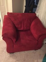 Red sofa chair