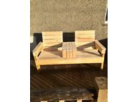 Handmade jack and jill bench (new)