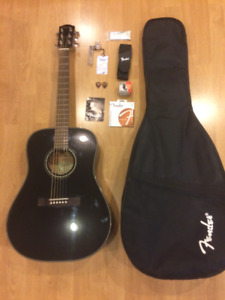 BRAND NEW Full Size Fender Acoustic Guitar with accessories