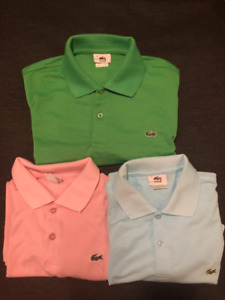 3 Mens Lacoste Polo Shirts
