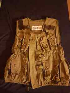 Vintage army green tactical vest and camo shirt
