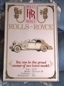 Vintage 1938 Rolls Royce Phantom III Mirror Bar Sign