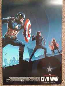 Captain America : Civil War movie poster - very thick paper