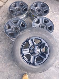 """Jeep 16"""" wheels + 1.25 spacers"""