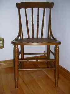Antique Wood/Cane Side Chair