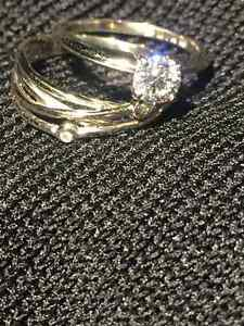 0.45 caratdiamond solitaire  size 5 and promise  ring size 5.5,
