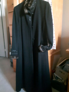 Elegant black womens coat