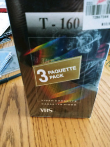 3 Blank T-160 VHS tapes **Brand New**