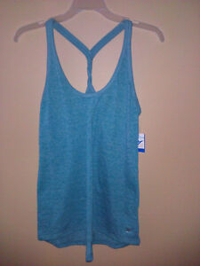 Old Navy Active teal blue racerback workout top shirt small NWT