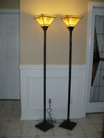 Elegant Torchiere floor lamps