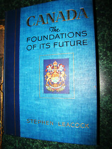 1941 STEPHEN LEACOCK *LIMITED EDITION* CANADA: FOUNDATIONS OF I