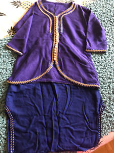 Costume traditionnel marocain fille 4-5 ans
