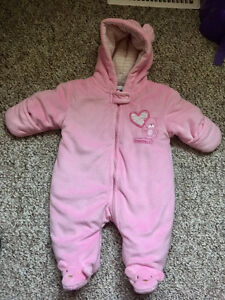 Two 0-3 months girls snow suits brand new