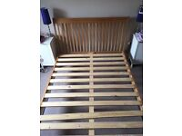 Solid Oak Sleigh Bed (King Size)