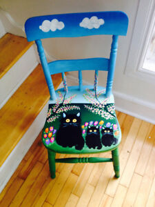Maud Lewis inspired hand-painted chair!!