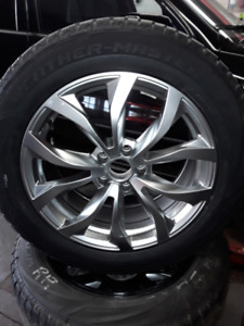 SET OF CUSTOM ALLOY RIMS AND WINTER TIRES FOR SALE!