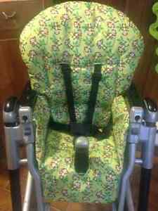 PEG PEREGO HIGH CHAIR / CHAISE HAUTE - NEW COVER / HOUSSE NEUVE