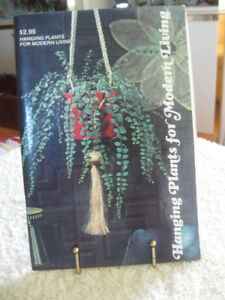 EXCELLENT BOOK [1975]... SELECTION & CARE.of INDOOR HANGING PLAN