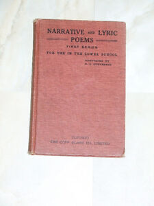 1912 book: Narrative & Lyric Poems, For Use in the Lower School