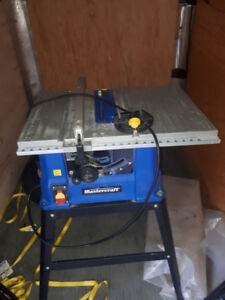 Table saw 10 inch Mastercraft used