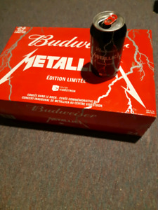 Empty 24 cans of Budweiser Metallica with box