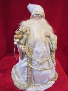 Decorative Holiday Elegance Christmas Santa Clause Statue Figure