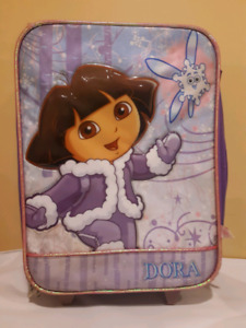 Dora the Explorer items. Suitcase, puzzles, games, bin, etc