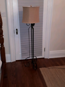 Wrought iron standing lamp