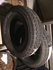2 Never used Dunlop LT 225/75R16