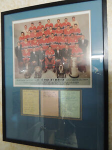 58/59 Montreal Habs autographs