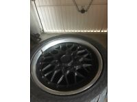 Bmw original bbs alloys wheels with tyres for sale 225/45/17 (e39 e46 e60 e36 320d 325i swap px