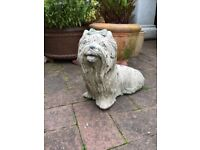 Garden dog ornament, quite weighty for size
