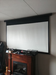 Motorized Projector Screen with Remote
