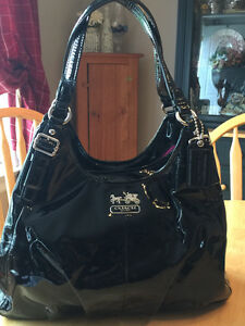 Patent Leather Coach Handbag