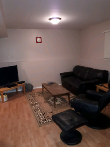 furnished .all included utilities,wifi , and telus tv
