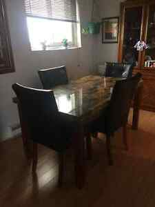 Dinning Room Table W/4 Chairs - Cobourg