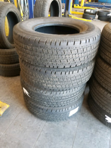 Set Of Used Hankook tires LT245/75R16 E