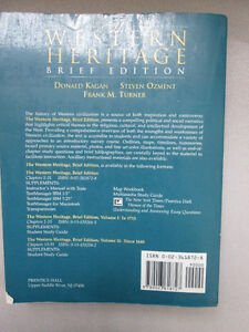 The Western Heritage Brief Edition by Donald Kagan Steven Ozment West Island Greater Montréal image 2