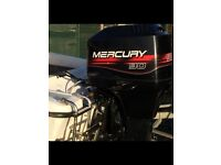 Mercury 90hp 2 stroke boat outboard as new