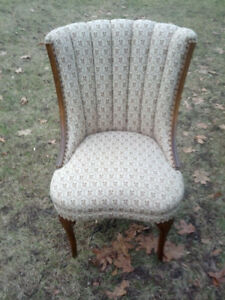 ANTIQUE HIGH BACK CHAIR