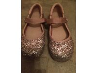 Next pink glittery shoes, size 11