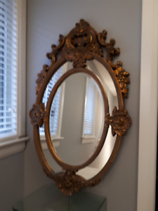 Large Gold Gilded Accent Mirror