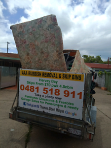 Hervey bay rubbish removal and skip bins also. Pickers  Urangan Fraser Coast Preview
