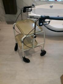 Walking aid wheeled trolley