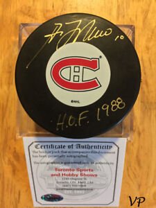 GUY LAFLEUR Autographed Inscribed Montreal Canadiens InGlas Puck