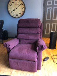 Red 3 Position Power Life Recliner- Good Condition
