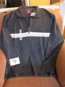 Men's Charcoal Grey Zip Pull Over - NEW WITH TAGS!!
